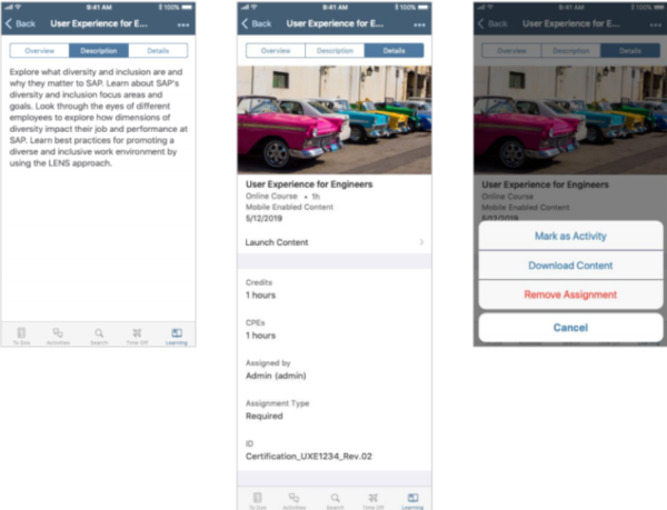 SAP SuccessFactors 2019 release update mobile