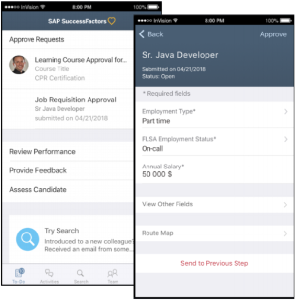 SAP SuccessFactors Q2 2019 Release Update Mobile