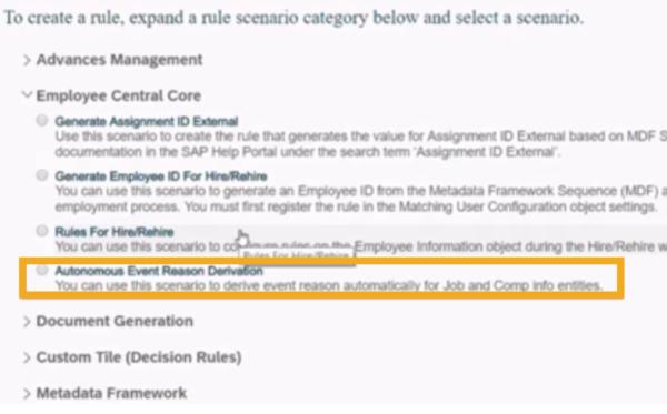 SAP SuccessFactors Q3 rule configuration update