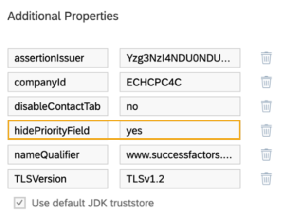 SAP SuccessFactors Hide Priority Field Q3