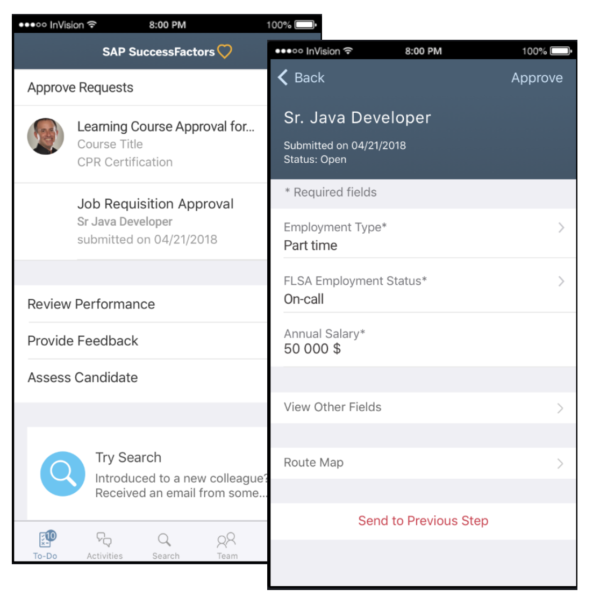 SAP SuccessFactors 2019 Q3 mobile update
